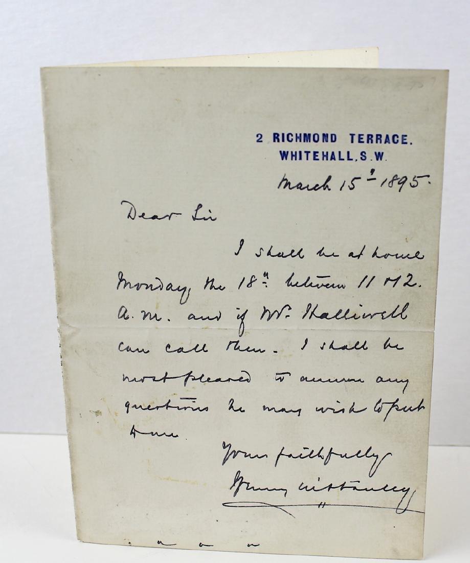 Sir Henry Morton Stanley Letter & Signature 1896 - 2