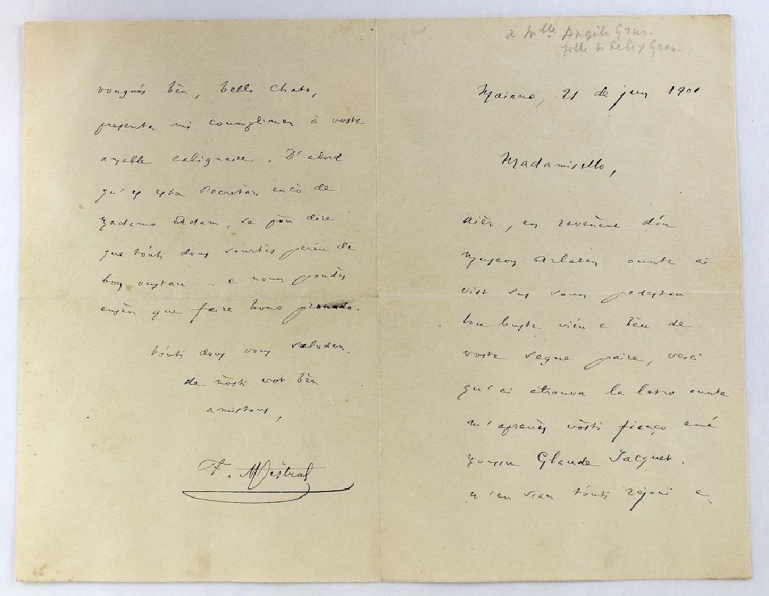 1901 Frederic Mistral French Poet Nobel Prize - 2
