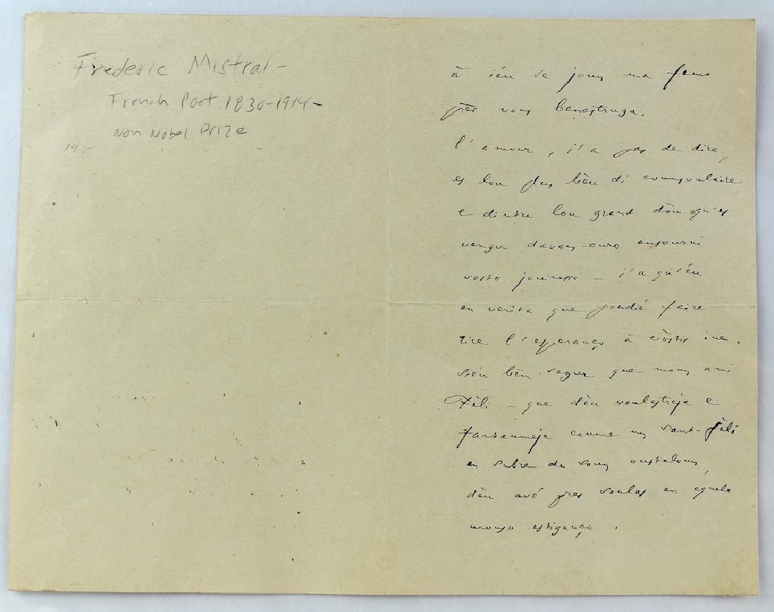 1901 Frederic Mistral French Poet Nobel Prize - 3