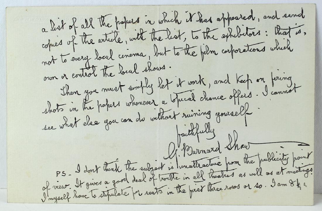 1937 George Bernard Shaw Letter & Signature - 2