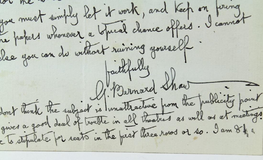 1937 George Bernard Shaw Letter & Signature - 3