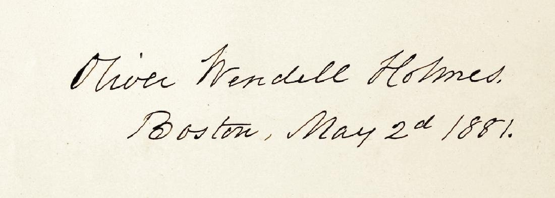 1881 Oliver Wendell Holmes Signature Boston