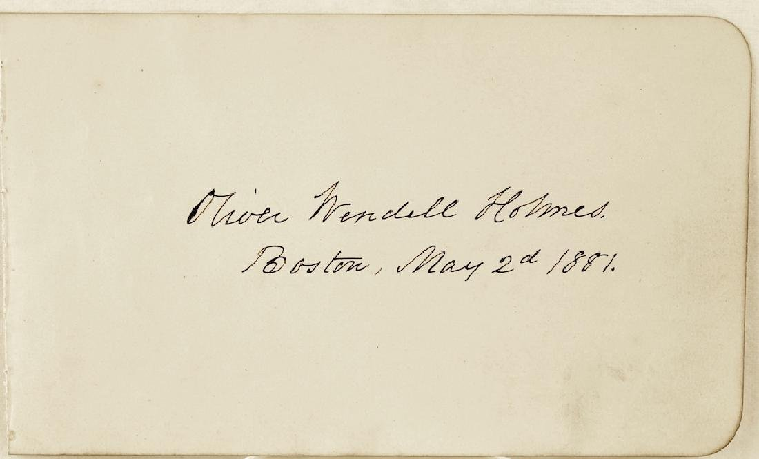 1881 Oliver Wendell Holmes Signature Boston - 2