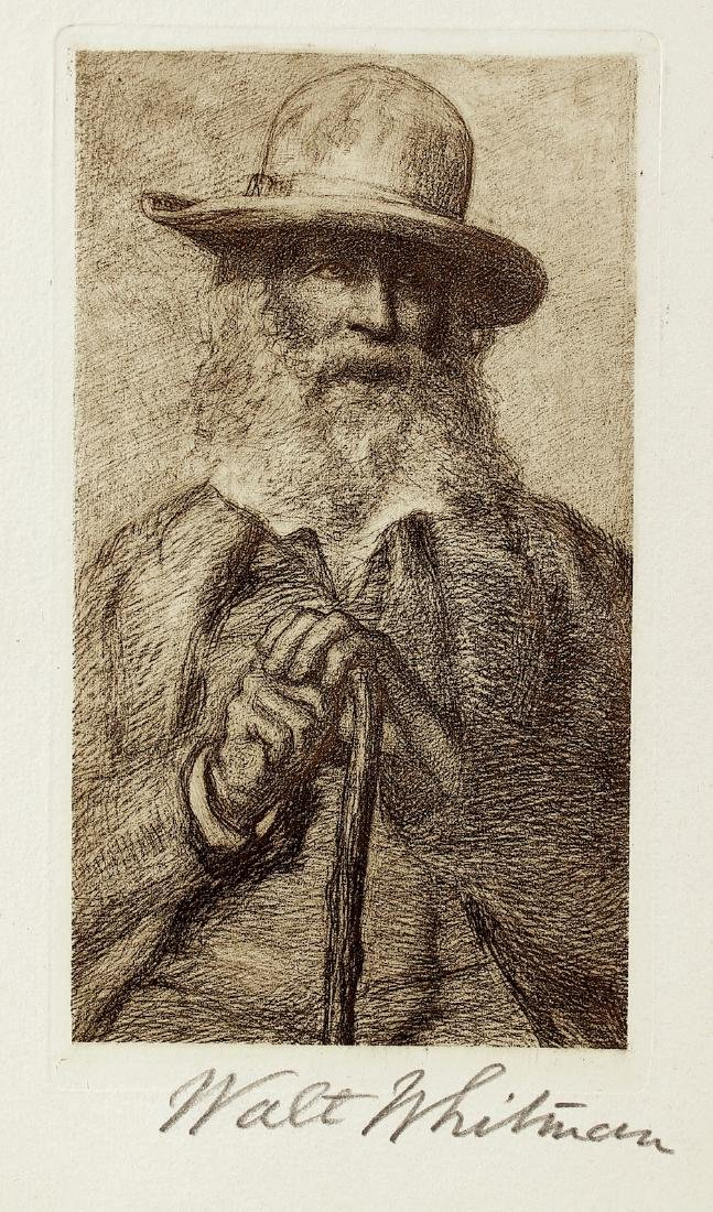Walt Whitman Signature On Litho Portrait - 3