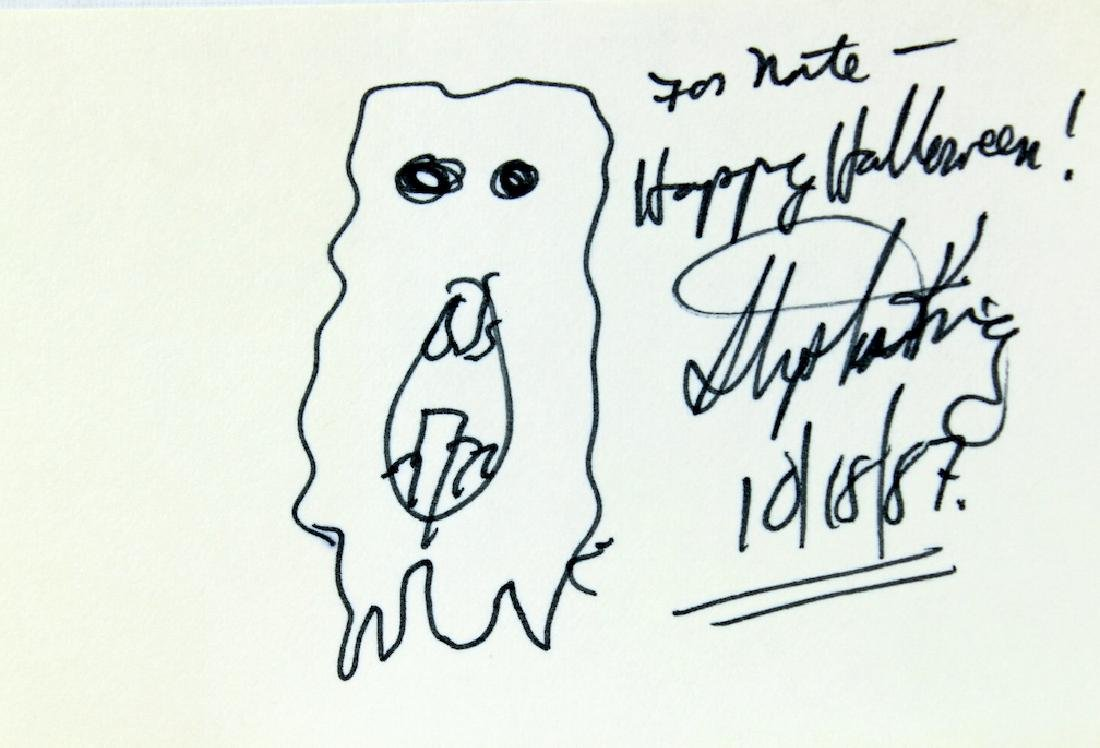 Stephen King Autograph with Halloween Drawing