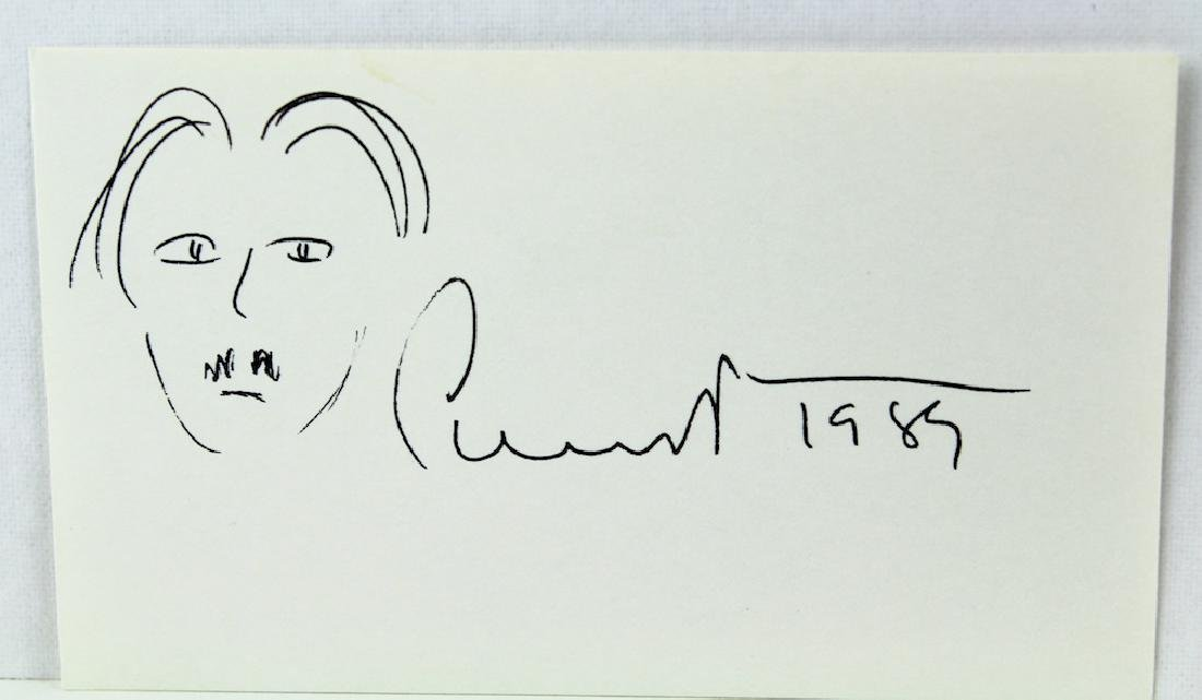 Edgar Albee Signature & Self Portrait