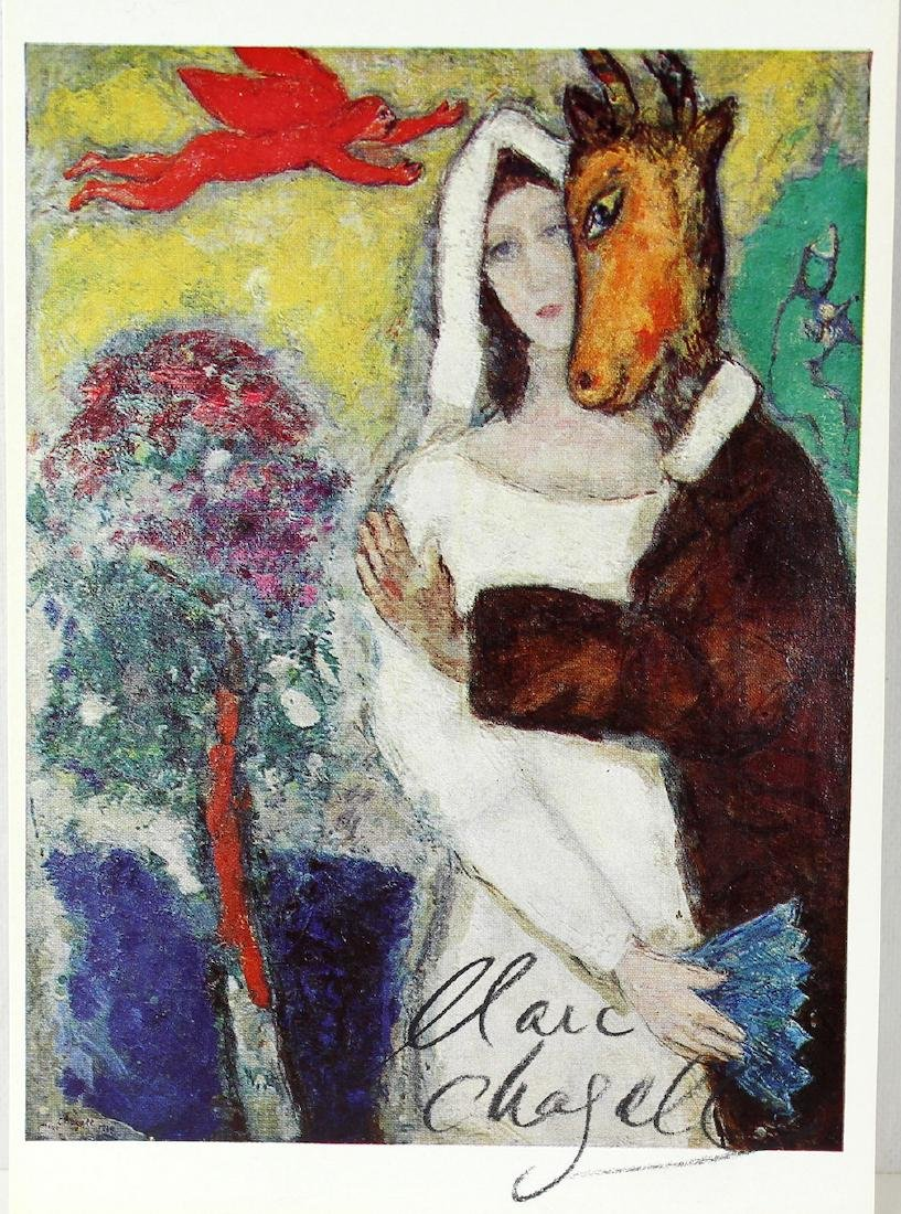 Marc Chagall Signed Chagall Litho