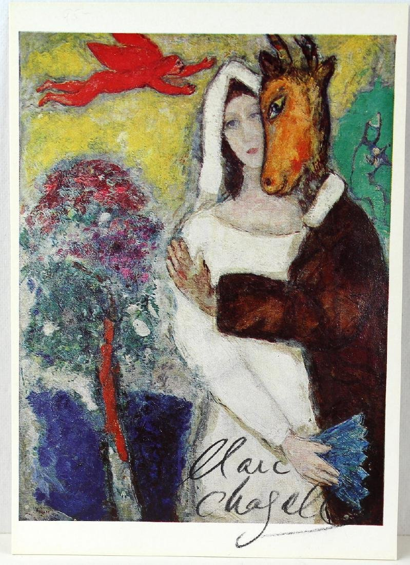 Marc Chagall Signed Chagall Litho - 2