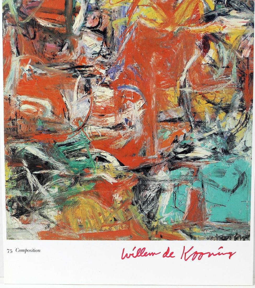 Willem De Kooning Signature on Large Artist Litho Card