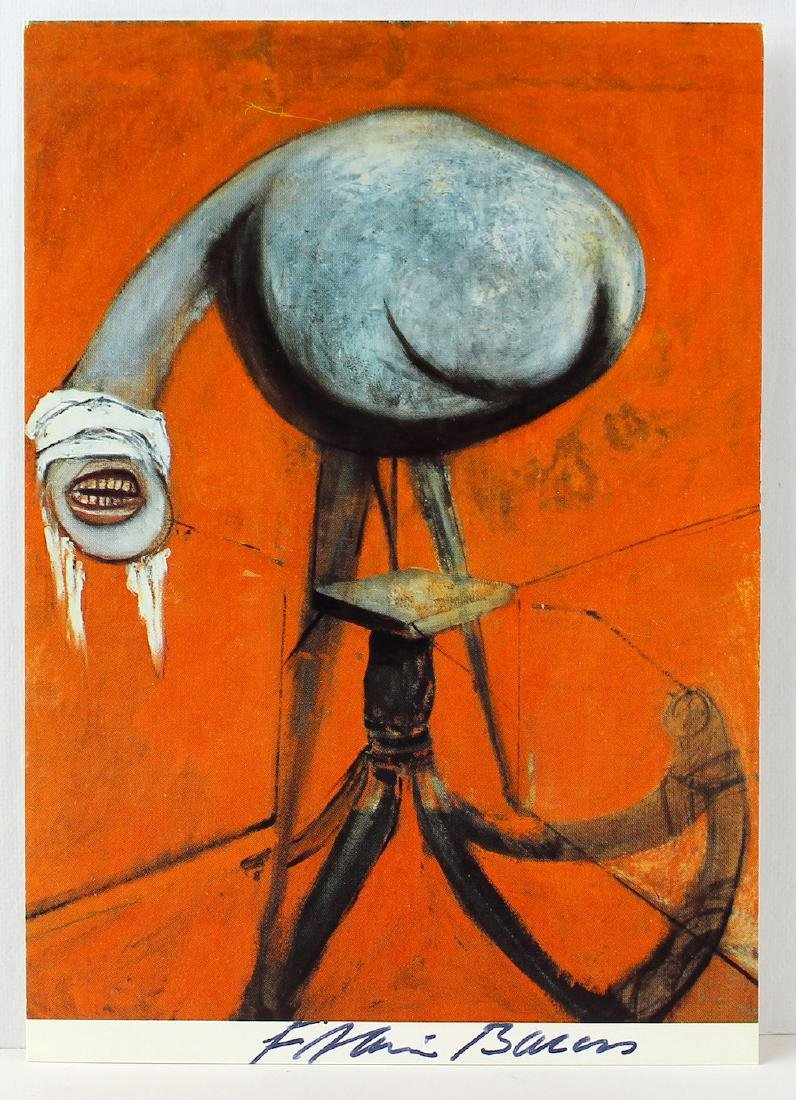 Francis Bacon Signed Art Post Card Triptych