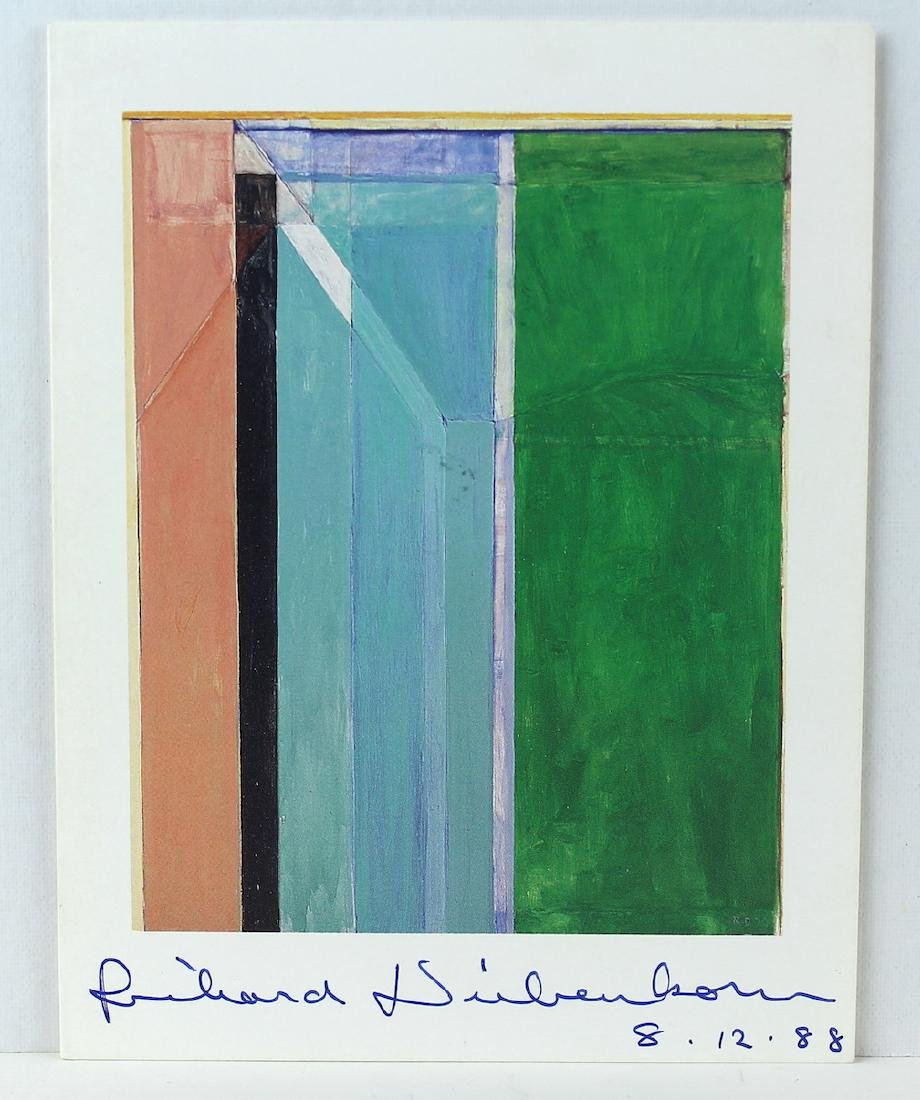 Richard Diebenkorn Aritst Signed Litho