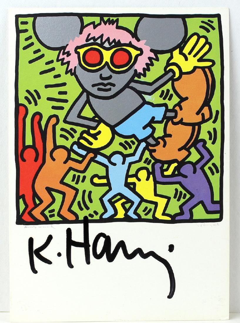 Keith Haring Artist Signed Litho