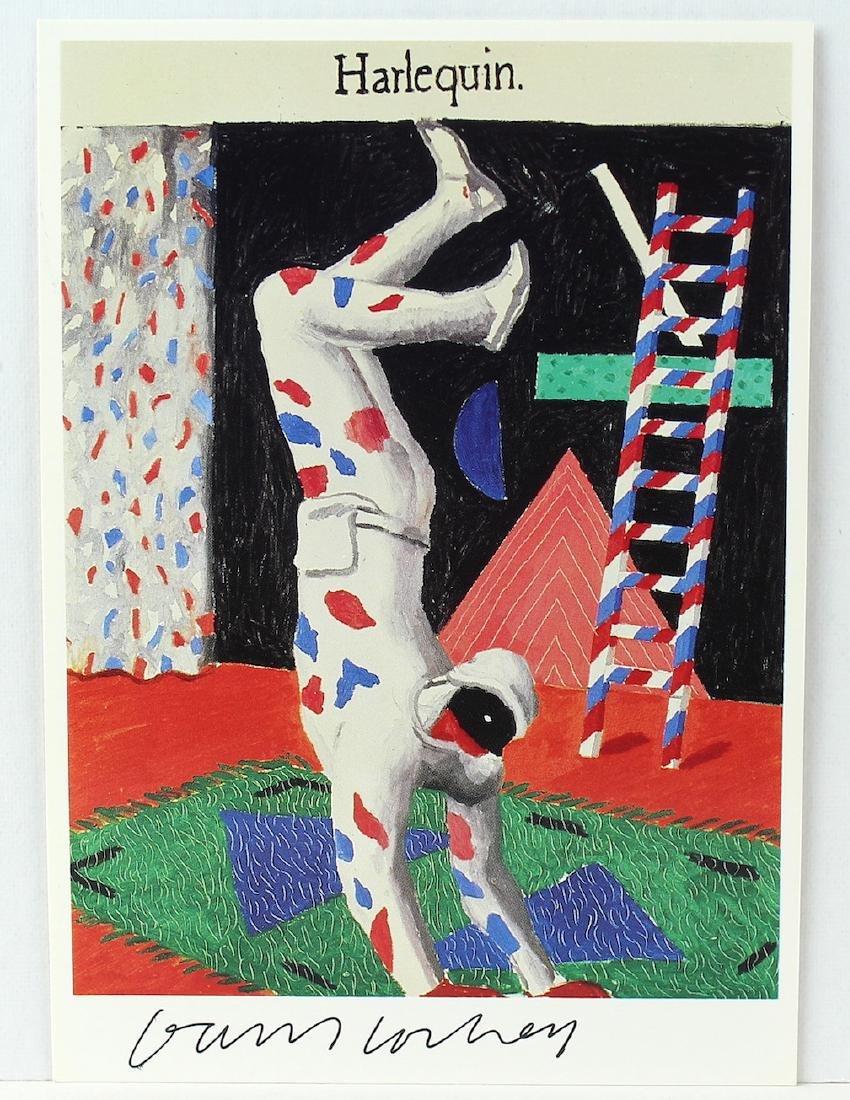 David Hockney Signed Artist Litho