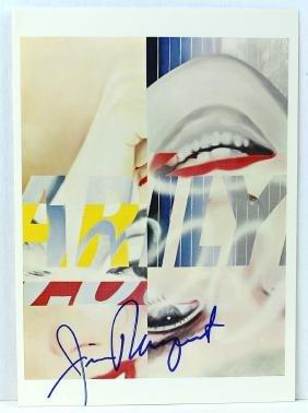 James Rosenquist Signed Artist Litho Marilyn
