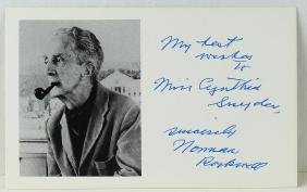 Norman Rockwell Signed Card