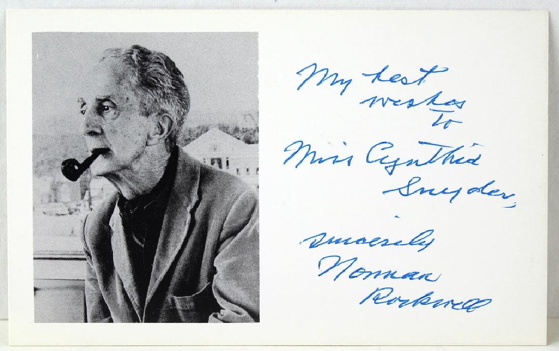 Norman Rockwell Signed Card - 2