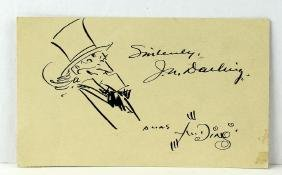 Uncle Sam Drawing By Artist Ding Darling Signed