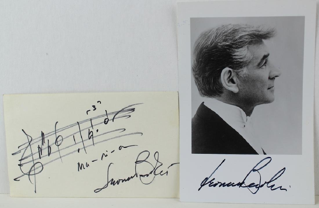 Leonard Bernstein Signed Photo & Maria Music
