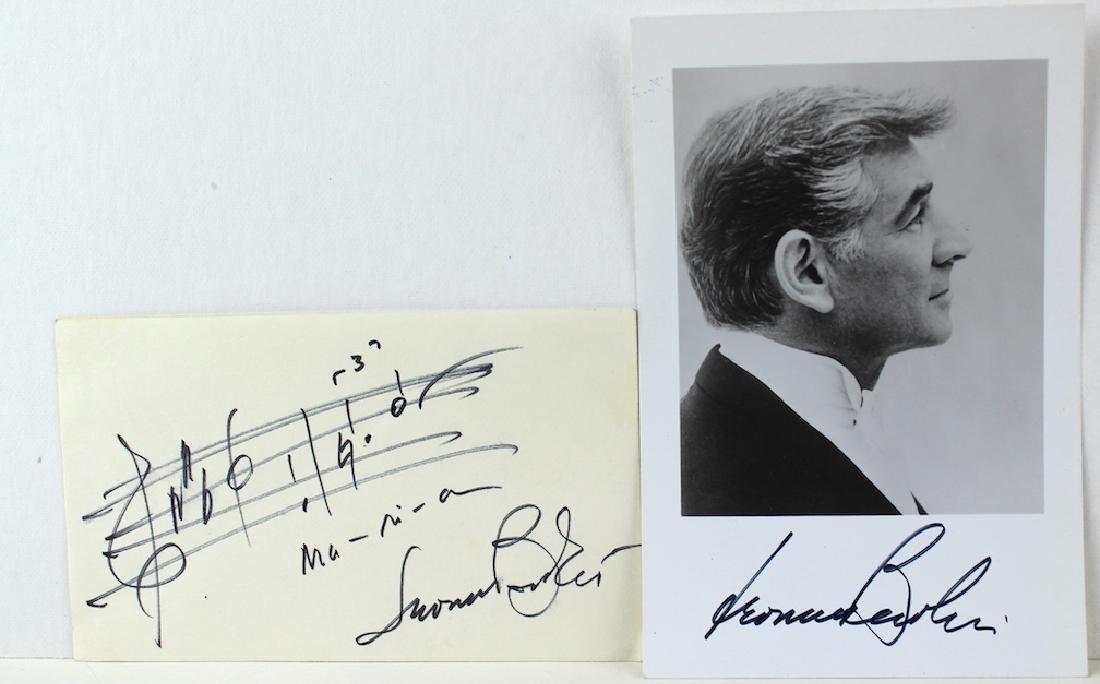 Leonard Bernstein Signed Photo & Maria Music - 2
