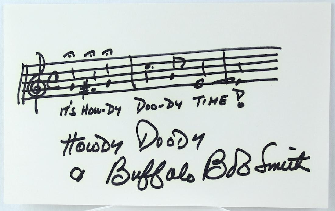 Howdy Doody Time Music Buffalo Bob Smith Signed