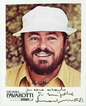 Luciano Pavarotti Signed 8 x 10 Photo