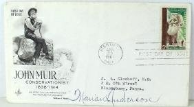 Marian Anderson Signature on First Day Cover