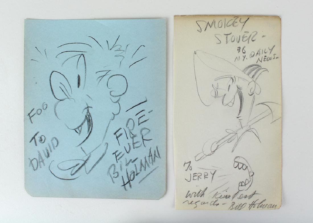 Bil Holman Cartoonist Smokey Stover 2 Cartoons