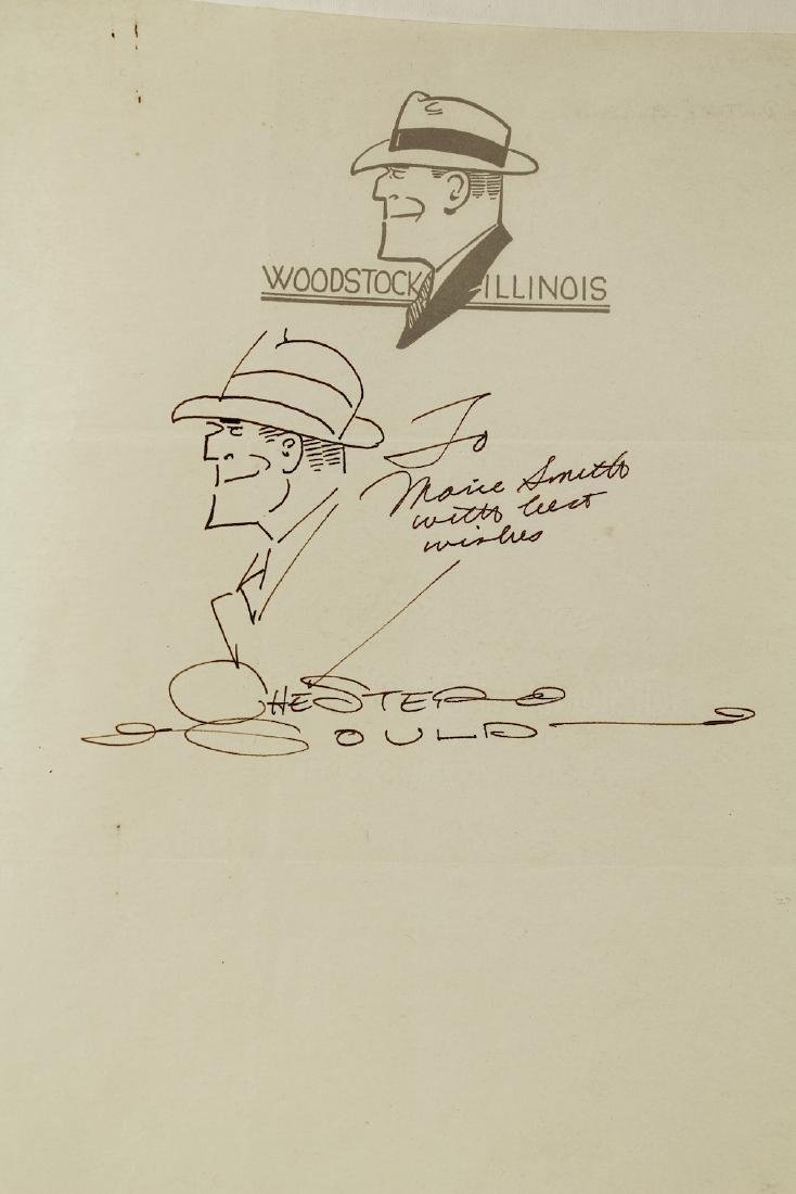 Chester Gould Dick Tracy Drawing & Autograph