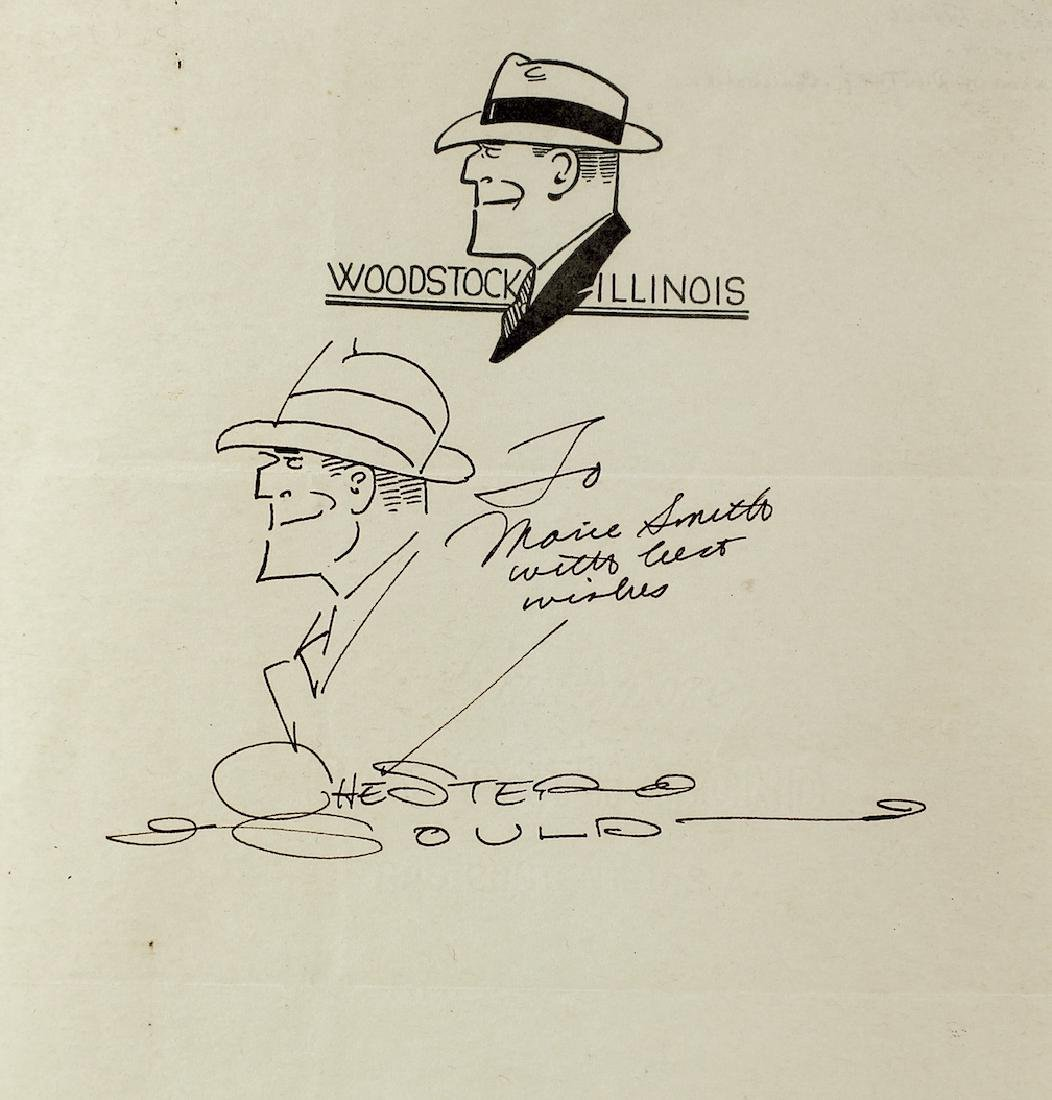 Chester Gould Dick Tracy Drawing & Autograph - 2