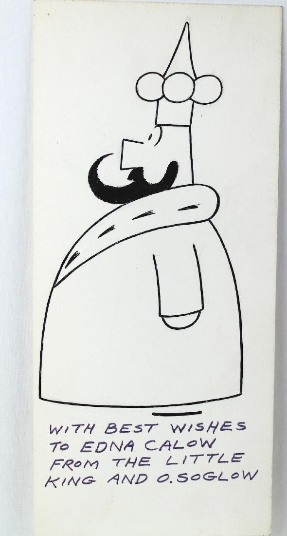 Otto Soglow The Little King Cartoon & Signature