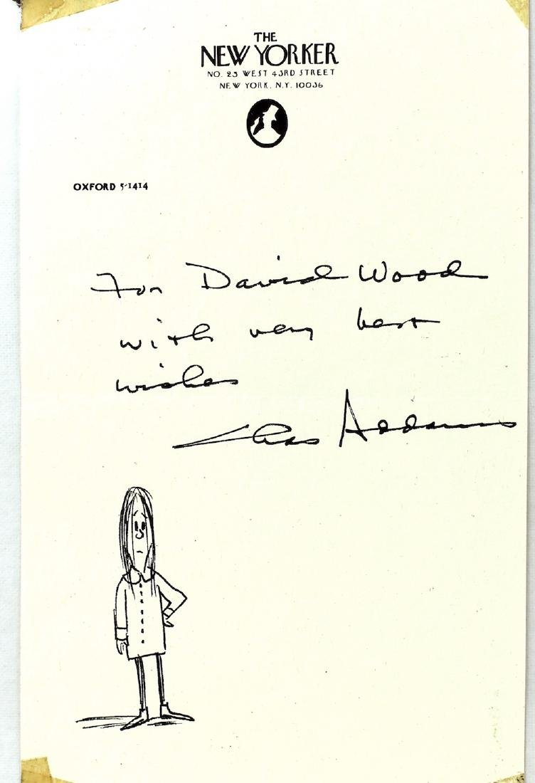 Charles Addams The Addams Family Signature & Drawing