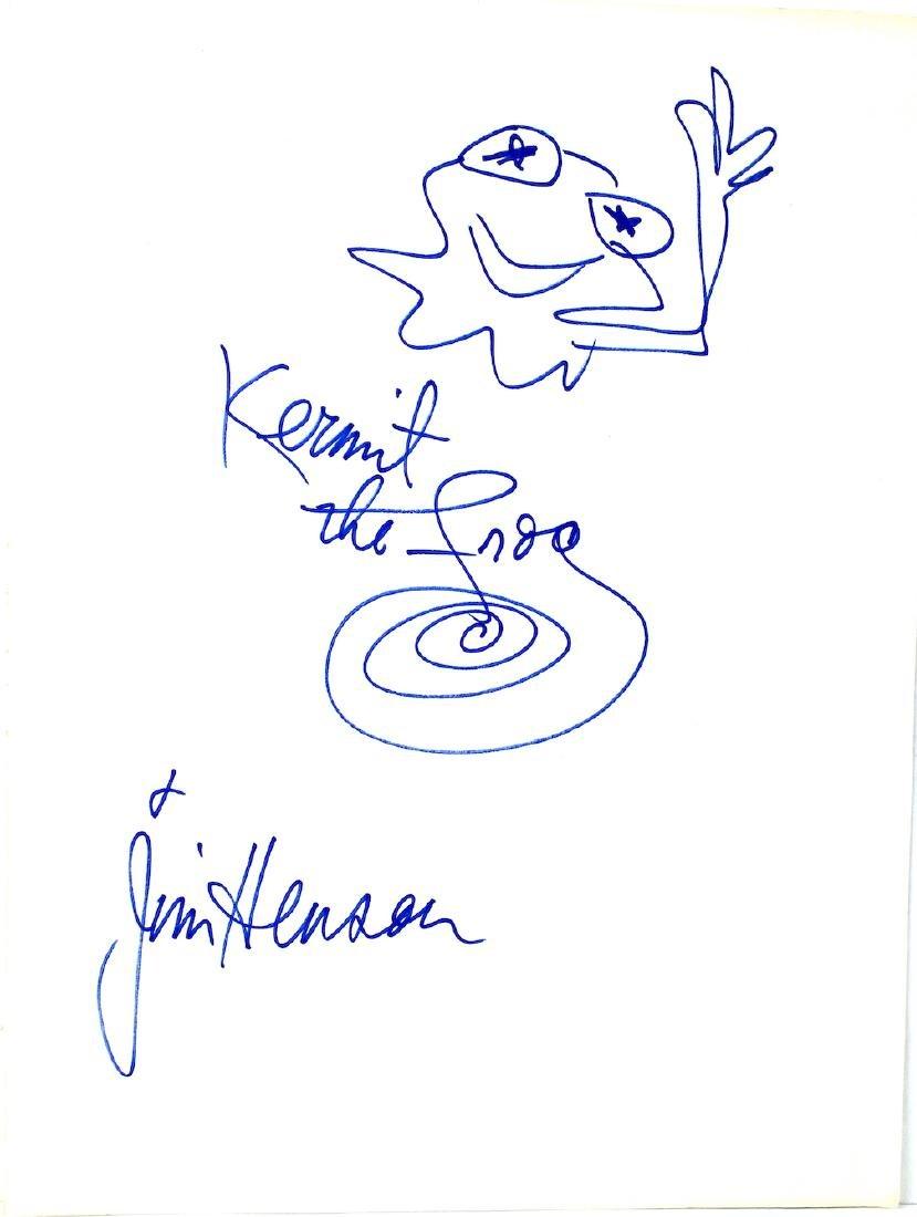 Jim Henson Kermit the Frog Drawing & Signature