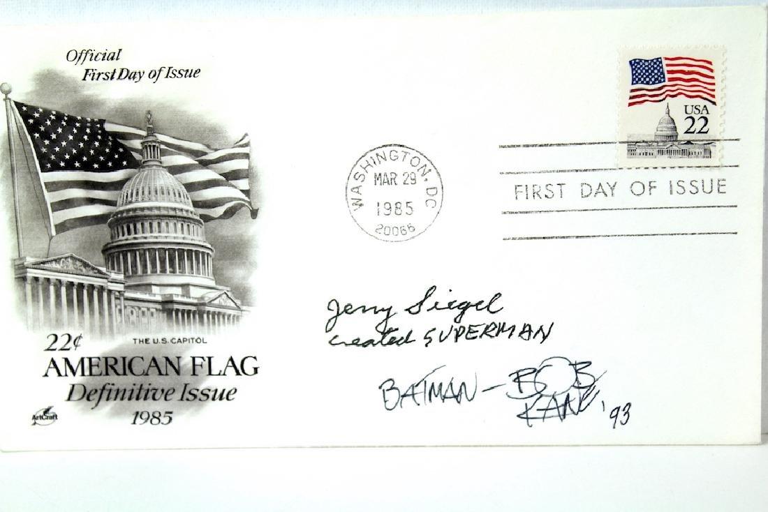 Jerry Siegel -Superman, Bob Kane Batman Signatures