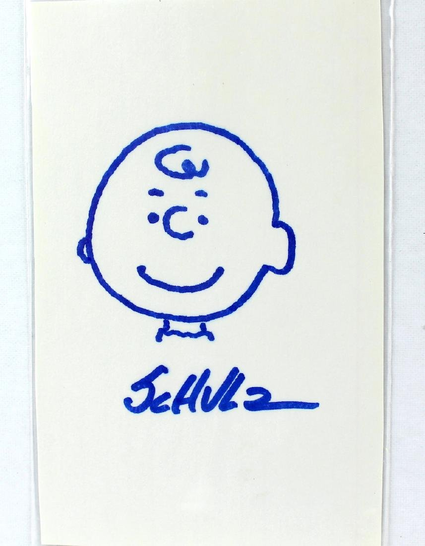 Charles Schulz Charlie Brown Drawing & Signature