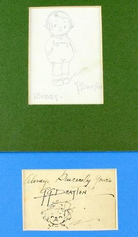Grace Drayton Pair of Drawings Campbell Soup