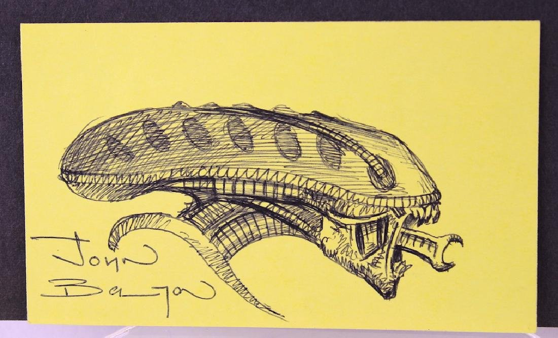 John Bolton Alien Artist Signed Drawing