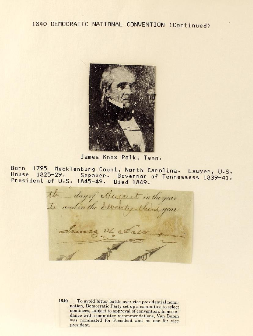 James K. Polk 11th President Signature