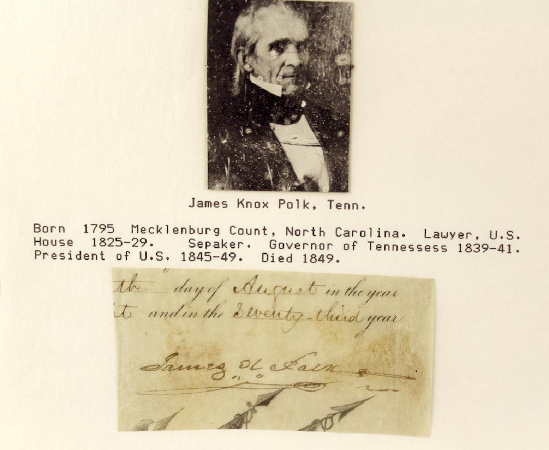 James K. Polk 11th President Signature - 2