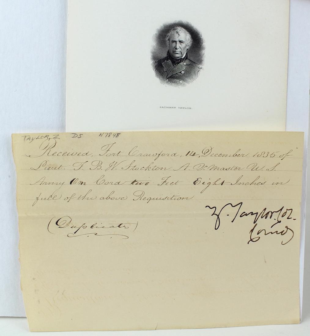 Zachary Taylor 12th President Signature