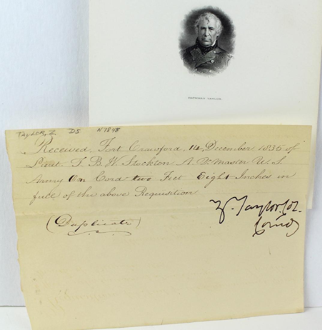 Zachary Taylor 12th President Signature - 2