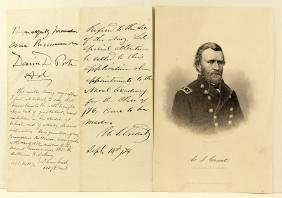 Ulysses S. Grant 18th President Letter & Signature