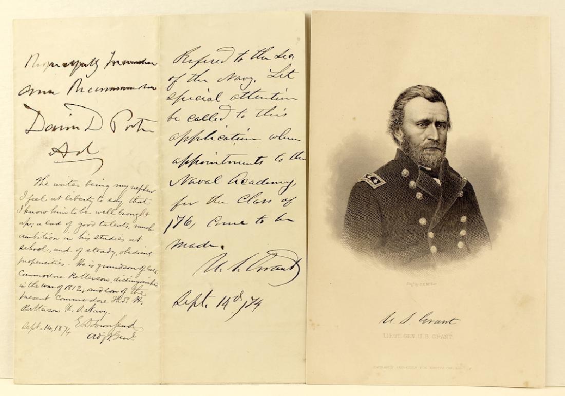 Ulysses S. Grant 18th President Letter & Signature