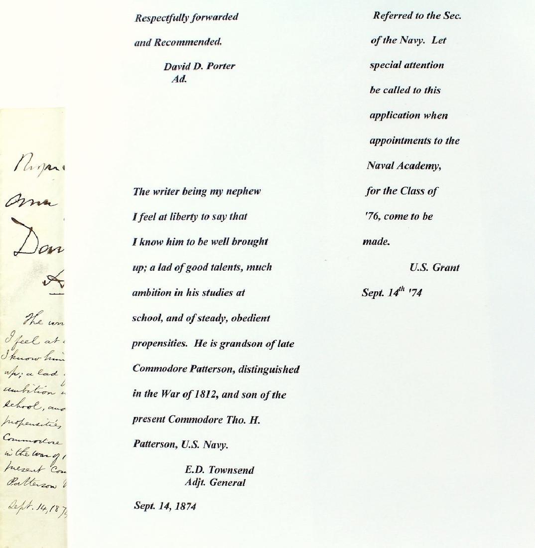 Ulysses S. Grant 18th President Letter & Signature - 3