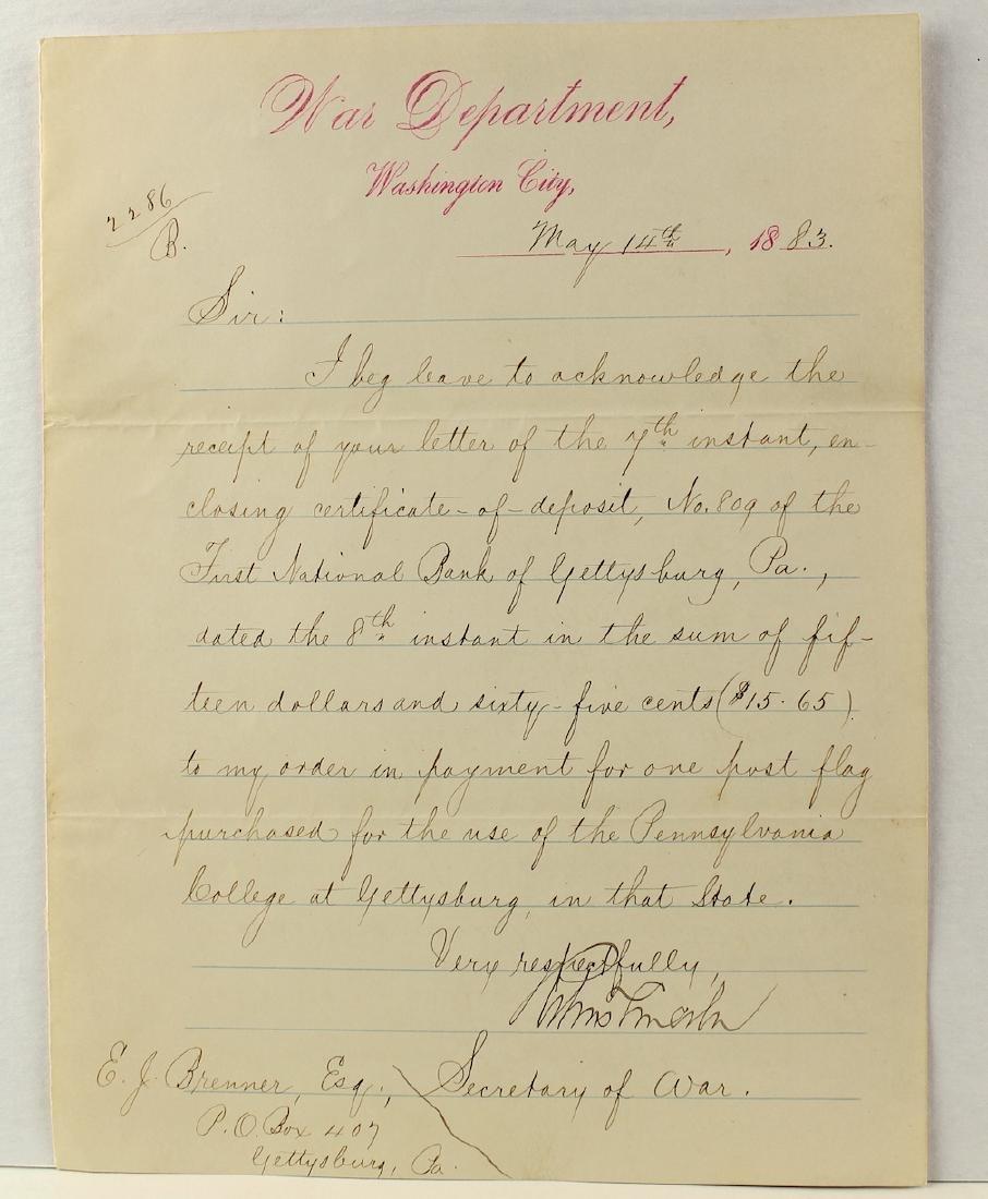 Robert Todd Lincoln Secretary of War Signature - 2