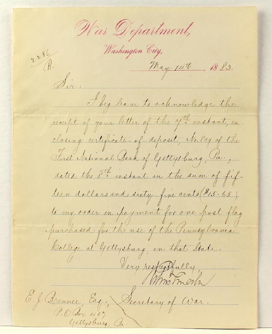Robert Todd Lincoln Secretary of War Signature - 3