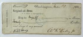 William McKinley 25th President Signature