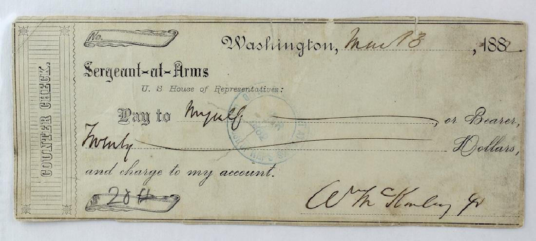 William McKinley 25th President Signature