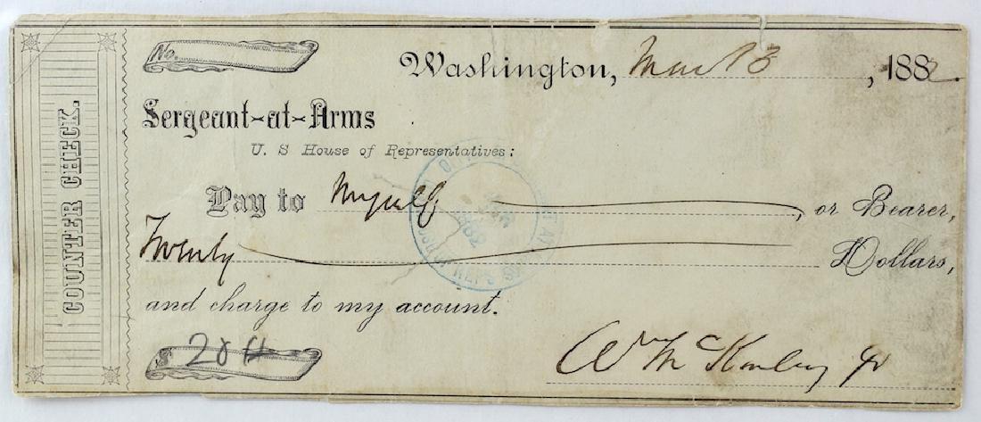 William McKinley 25th President Signature - 2