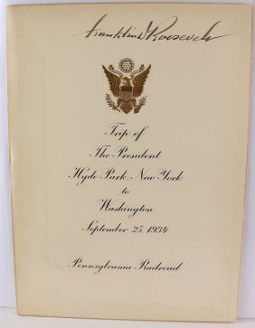 Franklin Delano Roosevelt 32nd President Signature