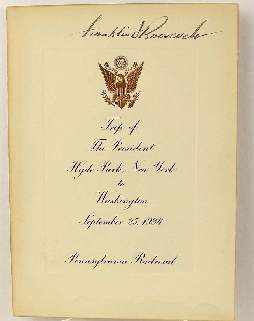 Franklin Delano Roosevelt 32nd President Signature - 3